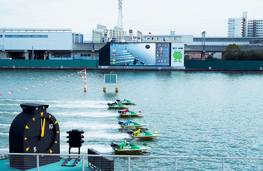 尼崎競艇の水面